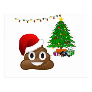 クリスマスのpooのemoji ポストカード