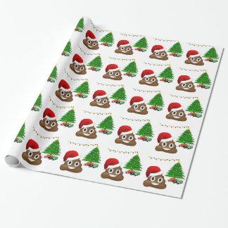 クリスマスのpooのemoji ラッピングペーパー