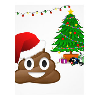 クリスマスのpooのemoji レターヘッド