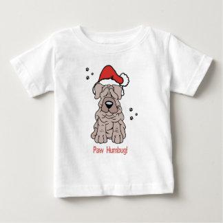 クリスマスのSharpei犬 ベビーTシャツ