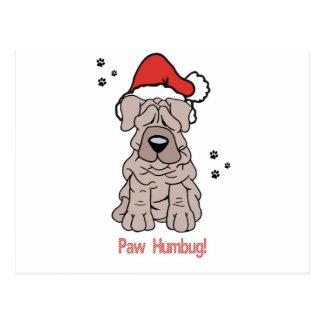 クリスマスのSharpei犬 ポストカード
