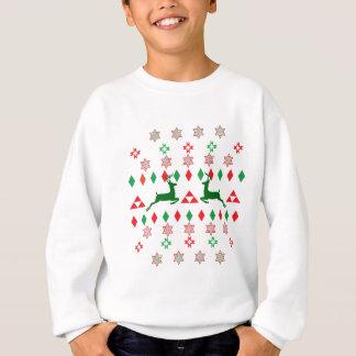 クリスマスのTシャツの服装の人および女性 スウェットシャツ
