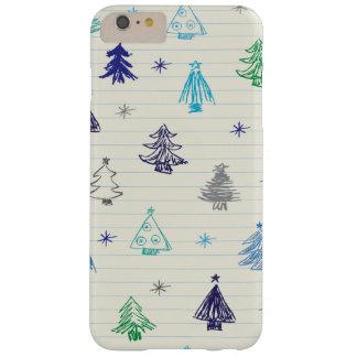 クリスマスのTressパターンデザイン Barely There iPhone 6 Plus ケース