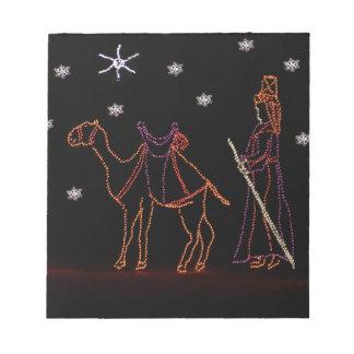 クリスマスのWisemanのラクダ1 2016年 ノートパッド