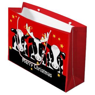 クリスマスはおもしろいなLG GBを脅かします ラージペーパーバッグ