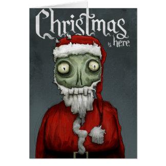 クリスマスはここにあります カード