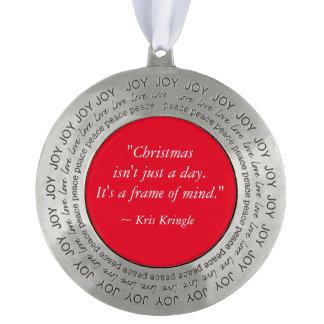 クリスマスはちょうど日のKris Kringleの引用文ではないです オーナメント