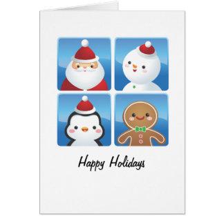 クリスマスはカードを平方します グリーティングカード