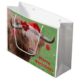 クリスマスはギフトバッグを親しくします ラージペーパーバッグ