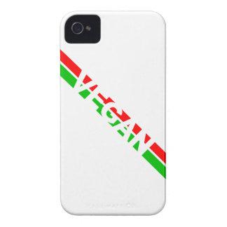 クリスマスはビーガンを縞で飾ります着色しました Case-Mate iPhone 4 ケース