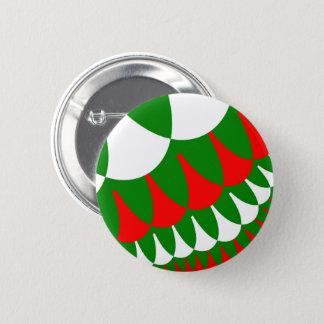 クリスマスはボタンをはかりで測ました 缶バッジ