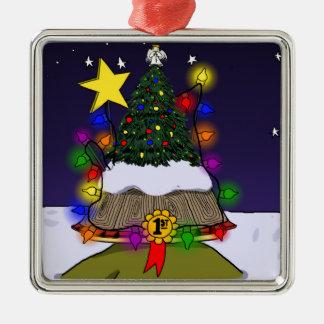 """クリスマスは元気づけますから引きましたAquilinaの""""緑の部分""""を メタルオーナメント"""