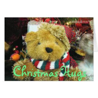 クリスマスは写真カスタマイズを抱擁加えます カード