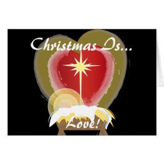 クリスマスは愛です! -カスタマイズ カード