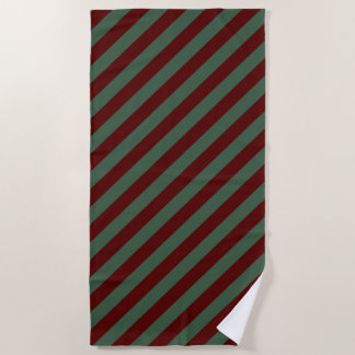 クリスマスは縞で飾ります ビーチタオル