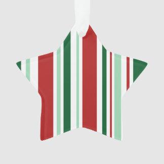 クリスマスは縞で飾ります: 赤くか真新しい緑か深緑色または白い オーナメント