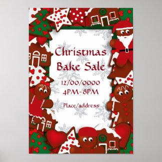 クリスマスは販売のジンジャーブレッドポスターを焼きます ポスター