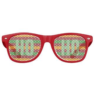 """クリスマスは""""HO HO""""パーティの陰を縞で飾ります レトロサングラス"""