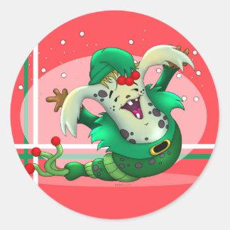 クリスマスみみずの外国の漫画のAutoCollantのステッカー ラウンドシール