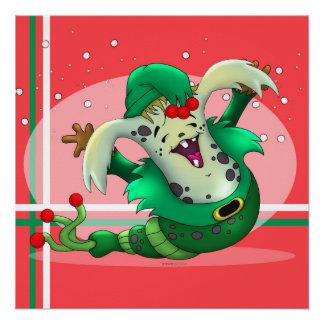 クリスマスみみずペット外国の漫画の完全なポスター ポスター