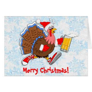 クリスマスよろよろしているトルコ(ビール) カード