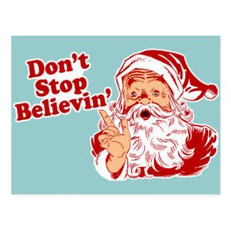 クリスマスを信じることを止めないで下さい ポストカード