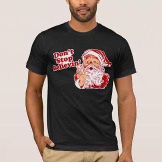 クリスマスを信じることを止めないで下さい Tシャツ
