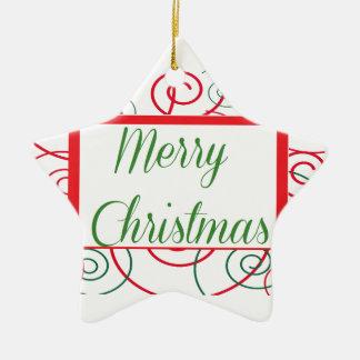 クリスマスを個人化して下さい セラミックオーナメント