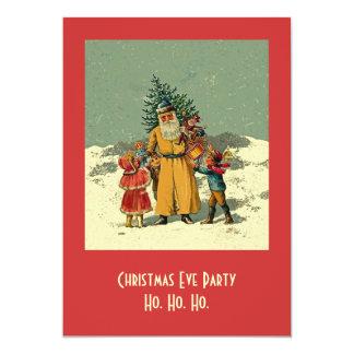 クリスマスイブのパーティーの招待 カード