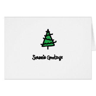 クリスマスインクスタンプ ノートカード