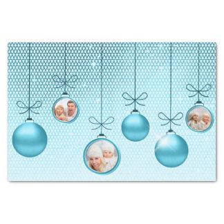 クリスマスオーナメントの写真テンプレートのターコイズID251 薄葉紙