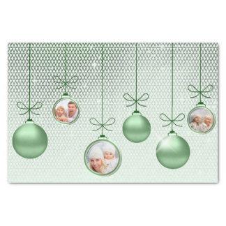 クリスマスオーナメントの写真テンプレートの緑ID251 薄葉紙