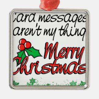 クリスマスカードない私の事 メタルオーナメント