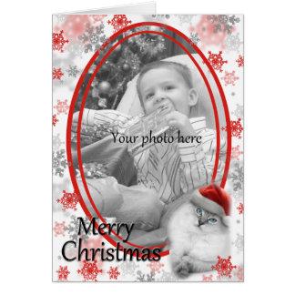 クリスマスカードのテンプレート カード