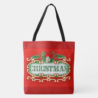 クリスマスカードのトートのかわいい漫画のトートバック トートバッグ