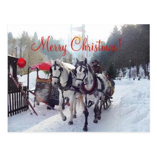 クリスマスカードのメリークリスマス ポストカード