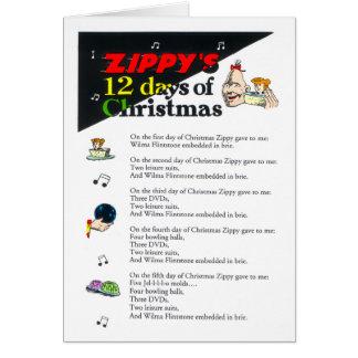 クリスマスカードの元気な12日 カード