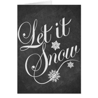 クリスマスカードの名前入りな黒板はそれが雪が降るようにしました カード