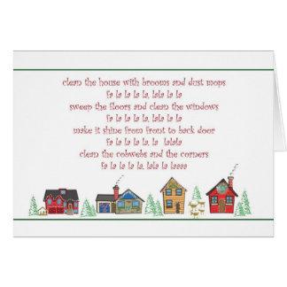 クリスマスカードの女中またはクリーニングサービスありがとう カード