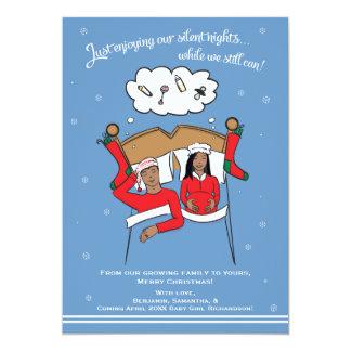 クリスマスカードの妊娠の発表のアフリカ人AM カード