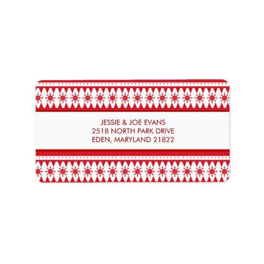 クリスマスカードの郵送の宛名ラベル 宛名ラベル