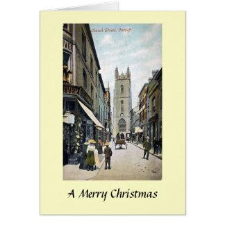 クリスマスカード-カーディフ、ウェールズ カード