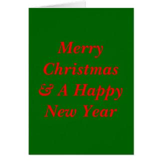 クリスマスカード カード