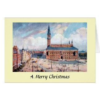 クリスマスカード-コペンハーゲン、デンマーク カード