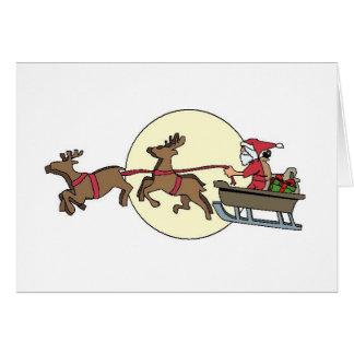 クリスマスカード、サンタおよびトナカイ カード
