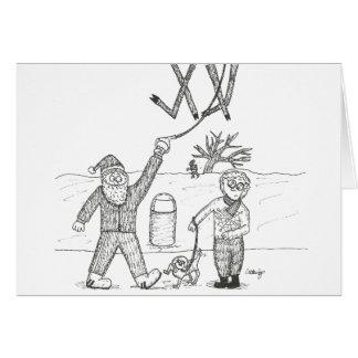 クリスマスカード-トナカイの歩く カード