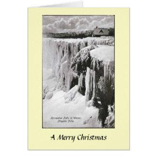 クリスマスカード-ナイアガラ・フォールズ、ニューヨーク カード