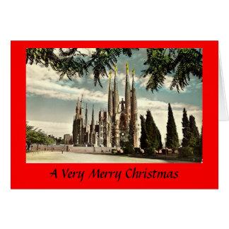 クリスマスカード-バルセロナ、Sagrada Familia カード