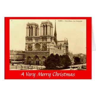 クリスマスカード-パリ、Notre Dame カード