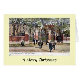 クリスマスカード-ブラウン大学、プロヴィデンス、RI カード